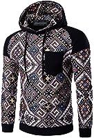 Jeansian Hommes Mode Sweats a capuche Sport Hoodies Men's Casual Ethnic Style Hoody Pocket Hoodies Sweatshirt Sports Top 88G2