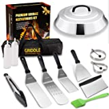 Vomelon Griddle Accessories Kit,Flat Top Griddle Tools Set for Camp Chef Grilling Hibachi Tool Set with Basting Cover Spatula