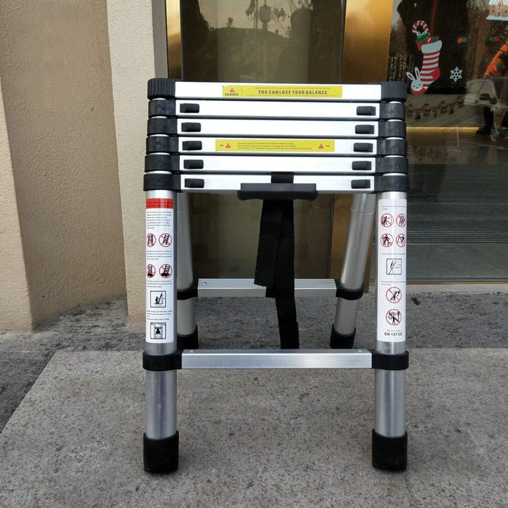 Telescopic Ladders,Aluminum Extendable Herringbone Ladder Portable Telescoping Upright Ladder for Decoration Outdoor Indoor