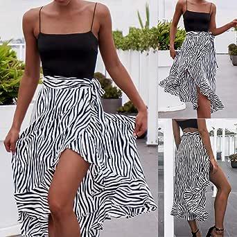 Wiltson Faldas largas Encaje, Moda para Mujer Cebra con Estampado ...