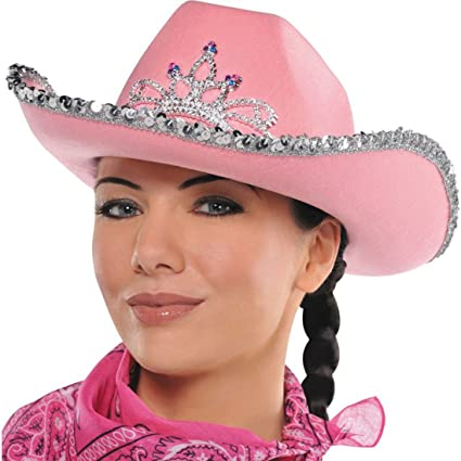 Kids Size Pink Sequin Cowgirl Hat with Tiara  Amazon.co.uk  Kitchen   Home 5edbad5abf7b