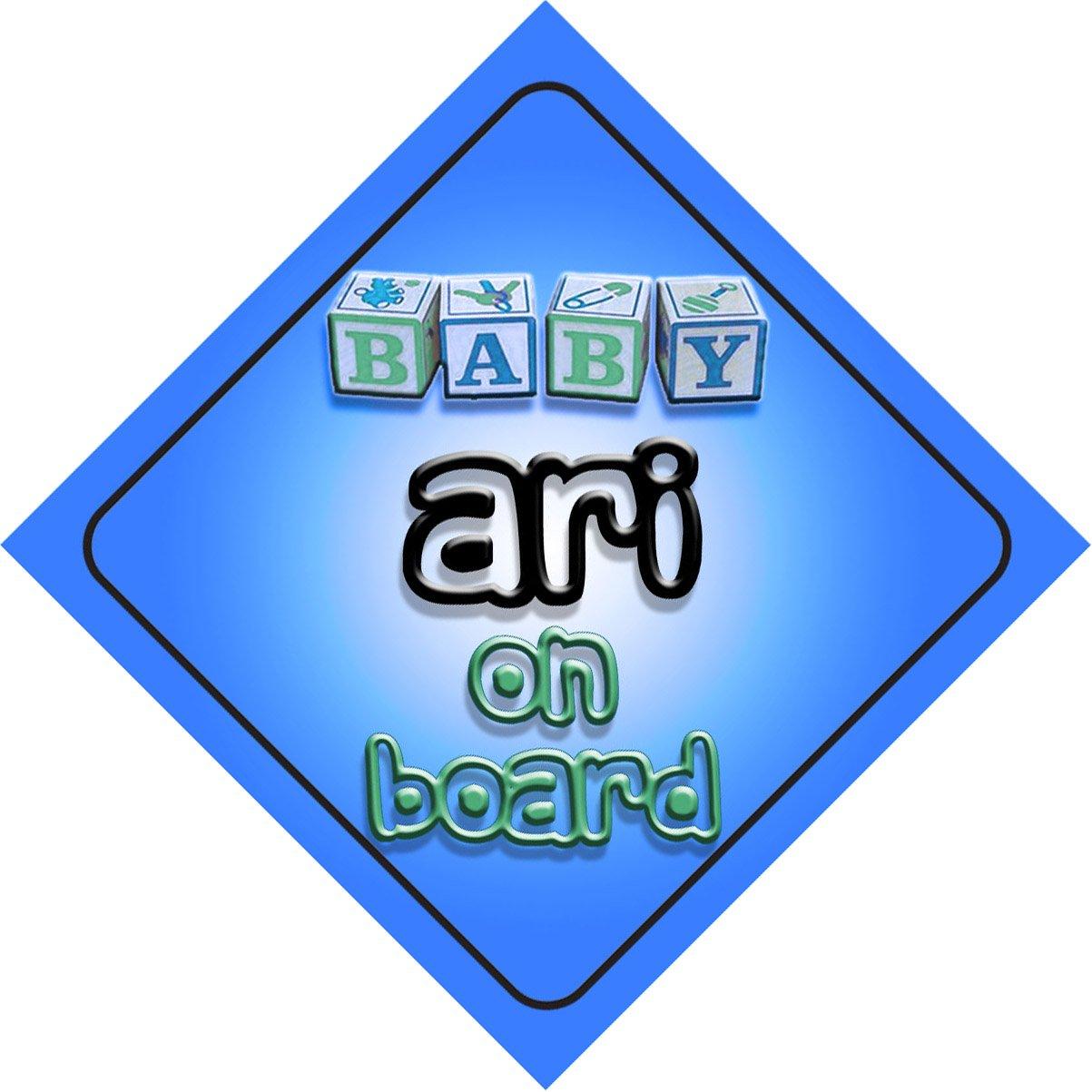 Bébé Garçon Ari on Board fantaisie Panneau de voiture Cadeau/cadeau pour nouveau/enfant nouveau-né