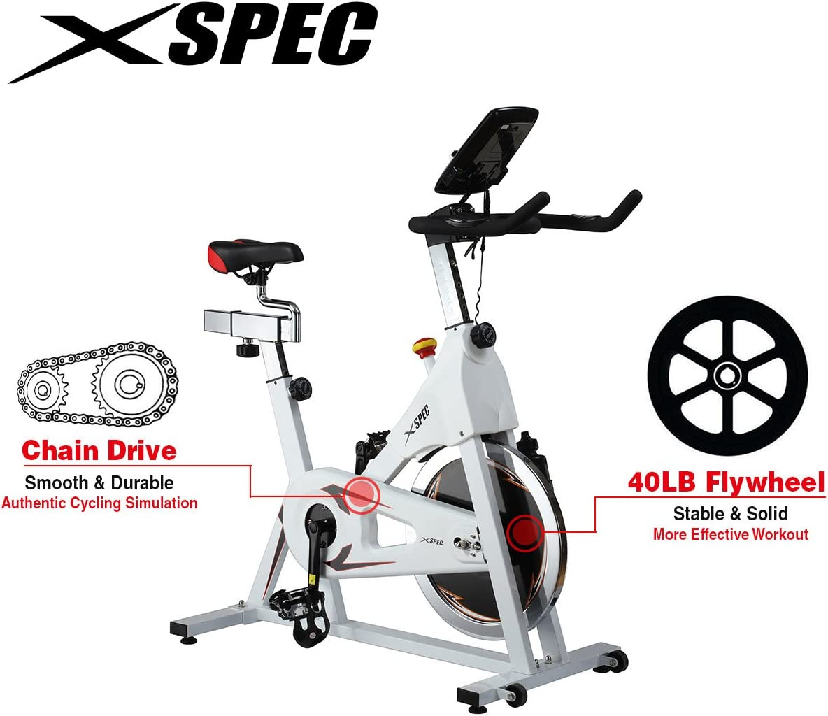 Xspec Pro Stationary - Bicicleta estática, con sensor de ritmo ...