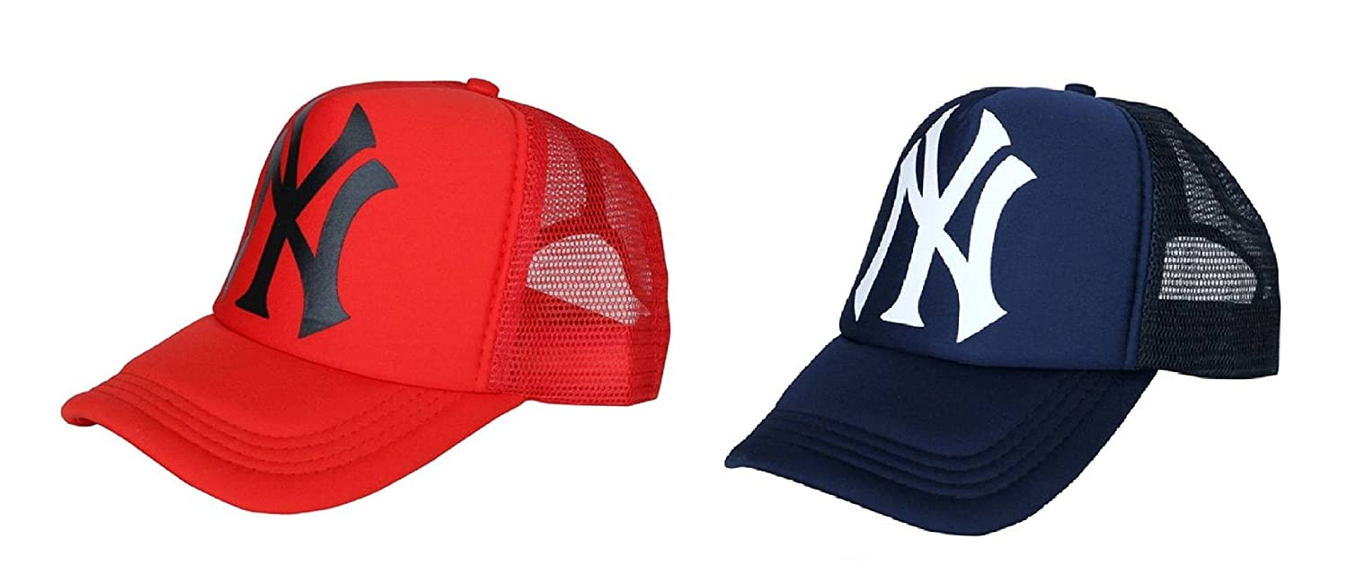 Michelangelo Blue NY Half Net Baseball CAP and NY red Half Net UNISEX CAP  COMBO  Amazon.in  Clothing   Accessories a1d22a98e