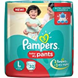 Pampers New Large Size Diapers Pants, White (32 Count)