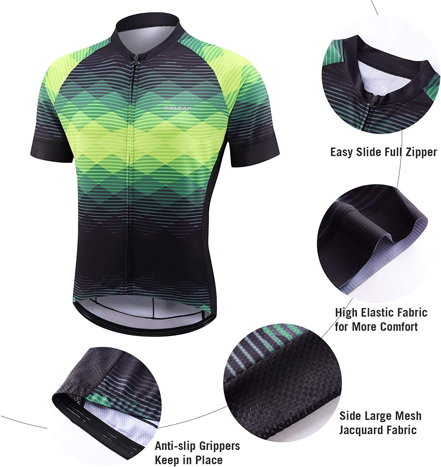 BALEAF Men's Cycling Jersey Set with 4D Gel Padded Shorts Cycling Clothes Shirts Bicycle Short Sleeve Set Road Bike: Clothing