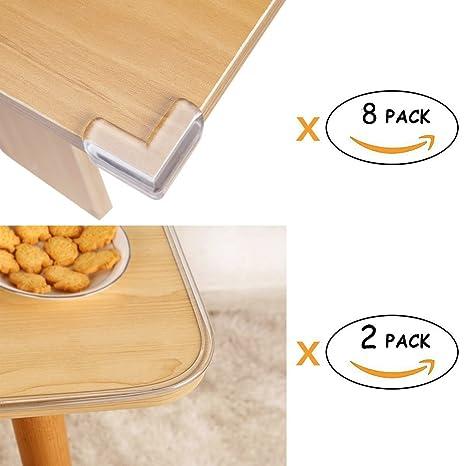 Wemk Pack de Protectores para Bordes y Esquinas de Mesas o Muebles ...