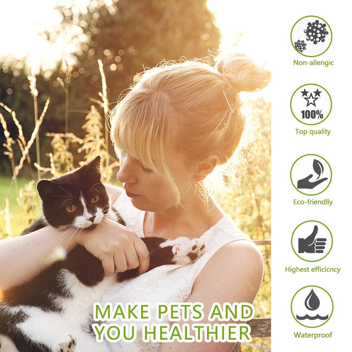ProHomer Collar Antiparasitario para Mascotas Gatos - Plagas Repelentes para Mascotas - Agregado con Aceites Naturales, Tamaño Ajustable e Impermeable, ...