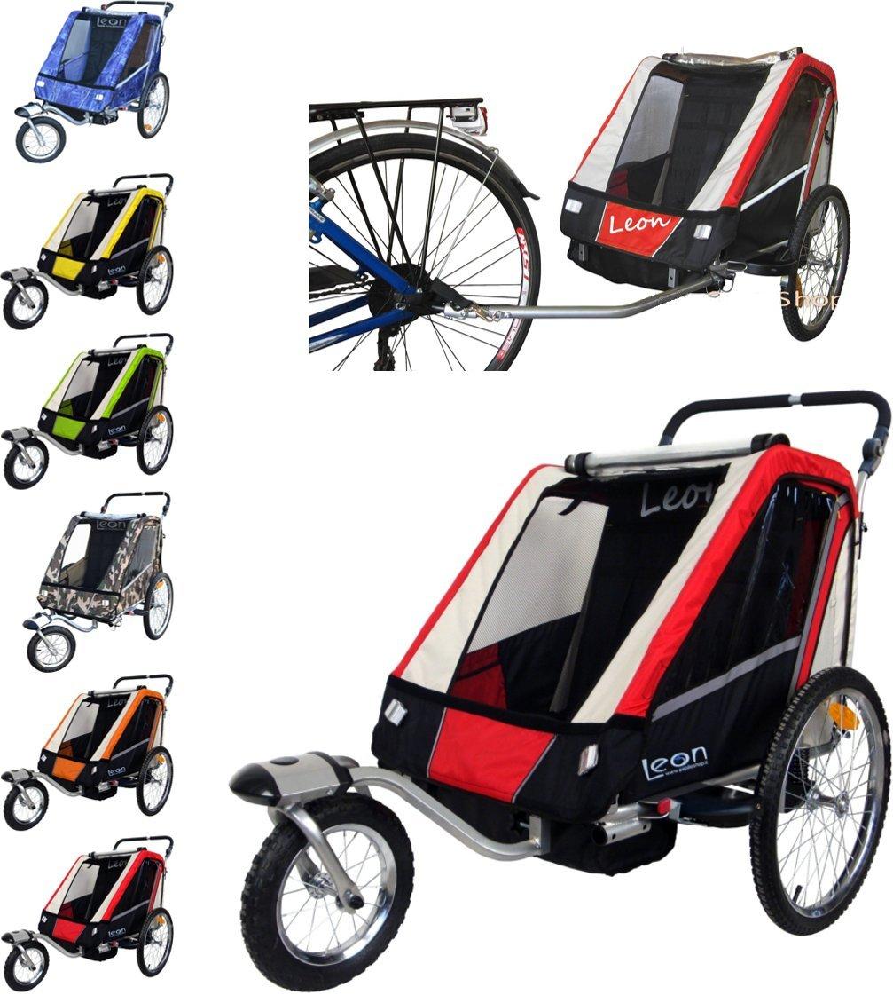 Leon paplioshop plegable bicicleta colgante Buggy con rueda delantera, para 1 o 2 niños,