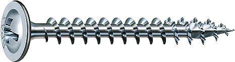 SPAX Rückwandschraube 4.0x 30 Vollgewinde Pozidriv 2 Wirox-Silber