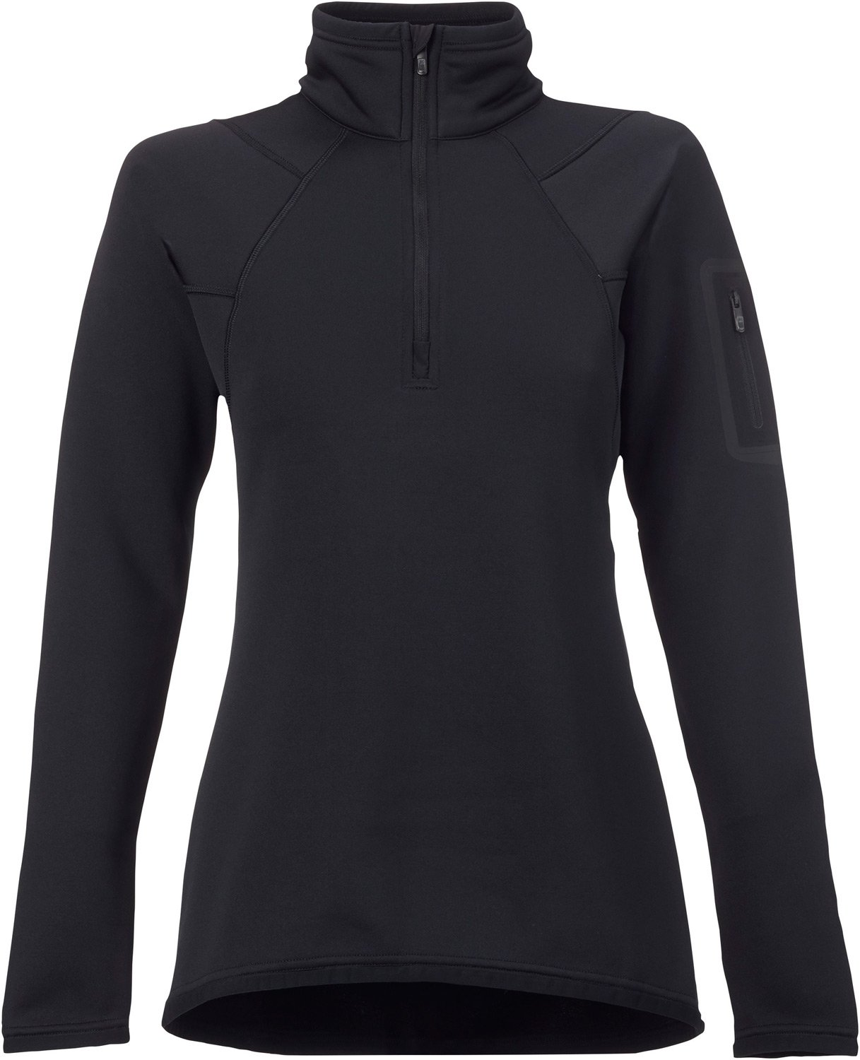 Burton Women's AK Lift Half Zip Fleece Top, True Black, Medium