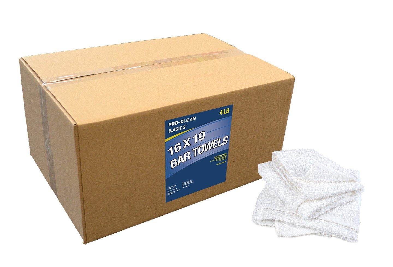 Pro-Clean Basics A51754 16'' x 19'' bar Towels - 4 lb. Box