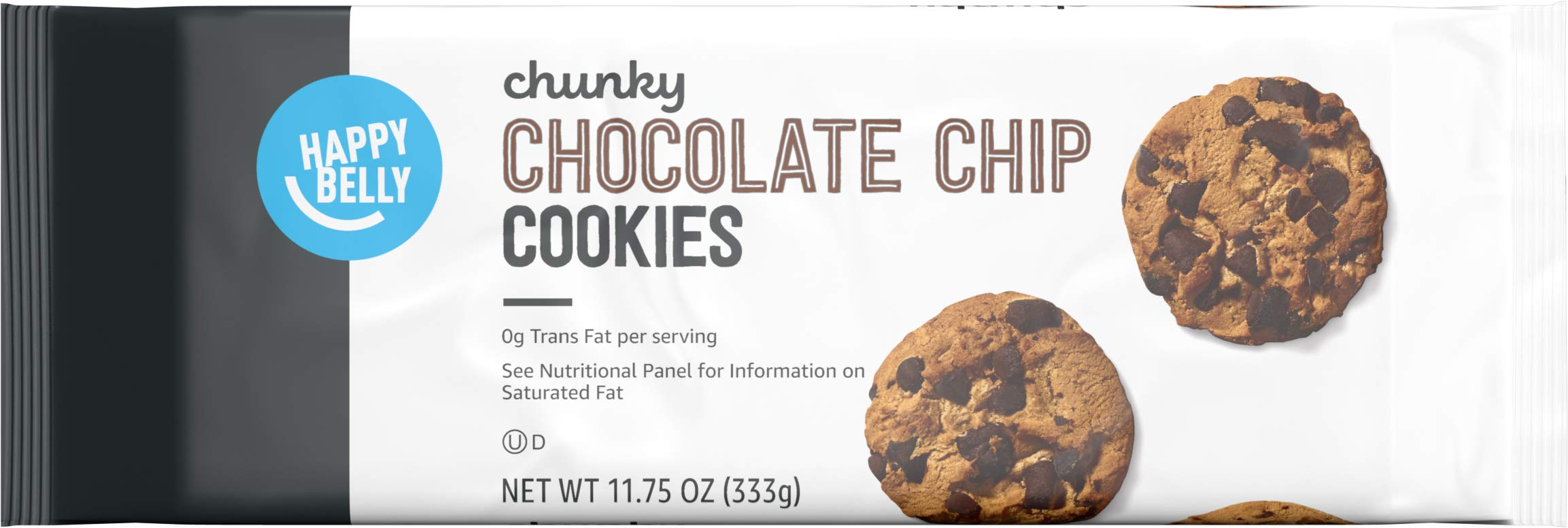 Amazon Brand - Happy Belly Chunky Chocolate Chip Cookies, 11.75 Ounce
