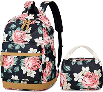 Mochila Escolar Chicas,Mochila Floral Mujer Mochilas Adolescentes Casual Mochila De Viaje Niña Mochila Universitaria Portatil 2 Packs: Amazon.es: Equipaje