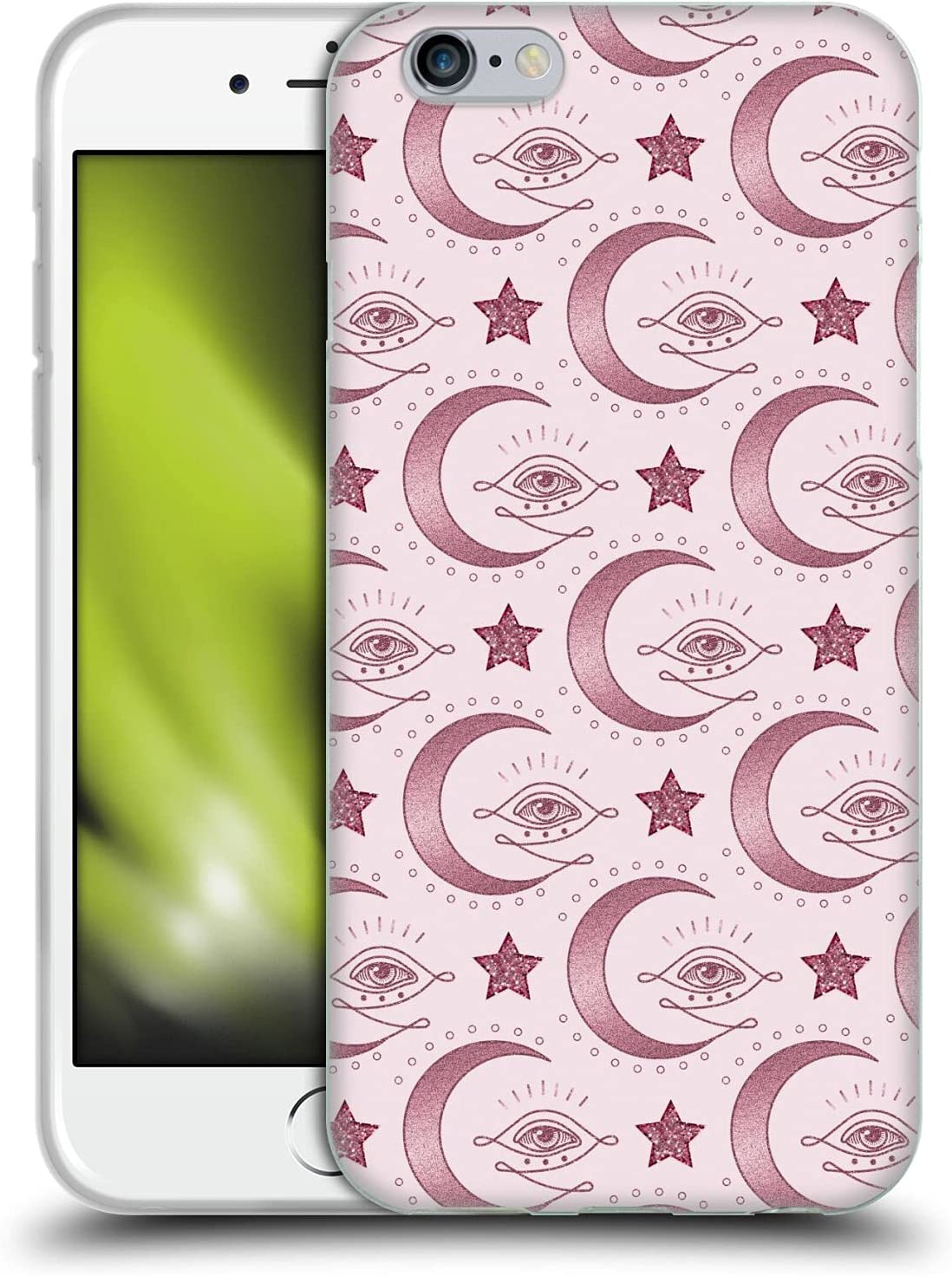 Head Case Designs Officially Licensed LebensArt Moon Eye Pattern Various Rose Gold Soft Gel Case Compatible with Apple iPhone 6 / iPhone 6s