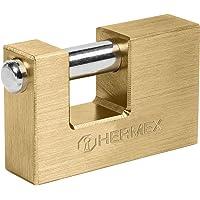 Hermex COR-75Q, Candado antipalanca, cuerpo de latón de 75mm, alta seguridad, llave de puntos