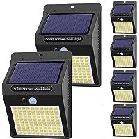 Hepside Luz Solar Exterior,【6 Pack / 3 Modos】Luces LED Solares para Exteriores, 800 Lumens Focos LED Exterior Solares…