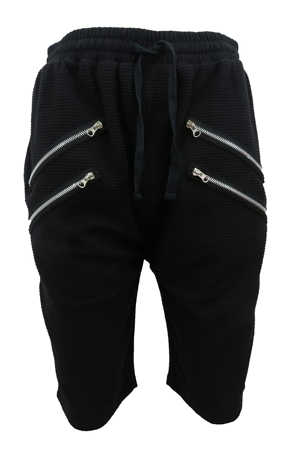 Henry /& William Mens French Terry Biker Shorts F515BLK/_-PARENT