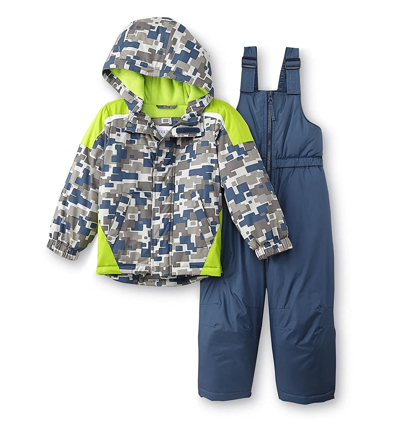 414f1337c Amazon.com  Toughskins Toddler Boys Geometric Snowsuit - Jacket Coat ...