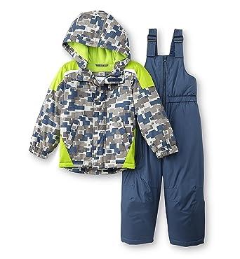 414f1337c Amazon.com  Toughskins Toddler Boys Geometric Snowsuit - Jacket Coat ...