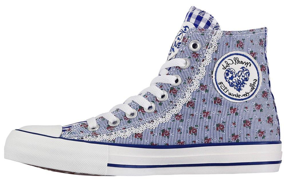 Krüger High-Top Madl Damen Sneaker Floret High-Top Krüger Blau fb865d