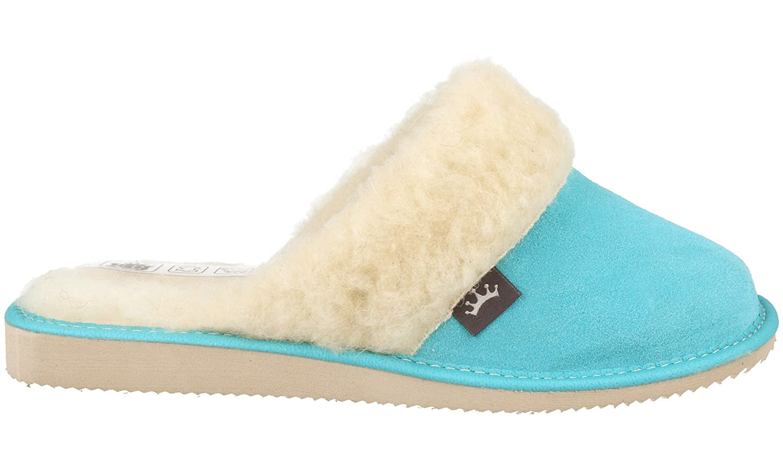 RBJ leather shoes . Pantofole Scamosciate da Donna Modello Imbottito Imbottito Imbottito in Morbida Lana di Pecora, in Scatola da Regalo (Opzionale) Blue fe015b