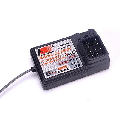 Flysky FS-GR3E Receiver 3CH 2.4Ghz Receiver for Flysky FS-GT2 FS-GT2B FS-GT3B FS-GT3C FZ-IT4S Transmitter: Toys & Games