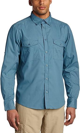 Craghoppers Funktionshemd Kiwi Langarm - Camisa/Camiseta para Hombre, Color marrón, Talla 3XL: Amazon.es: Ropa y accesorios