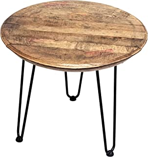 product image for WhiskeyMade Reclaimed Bourbon Whiskey Barrel Head Small Side Table - Beautiful Home Decoration - Made in The USA (Bourbon Belt Distillery, Jim Bean)