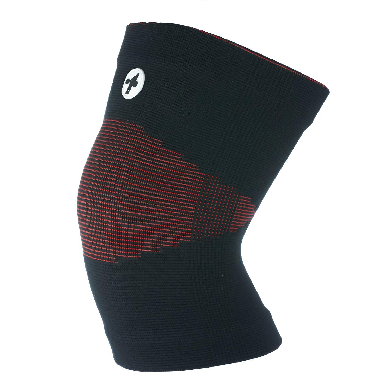 Knee Sleeves for Weightlifting, Crossfit, Chinese Style (Black and Red, Small)