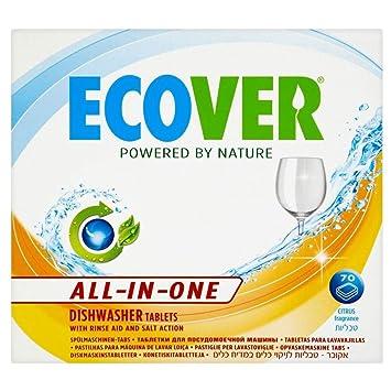 Ecover All-In-One - Pastillas para lavavajillas (70): Amazon ...