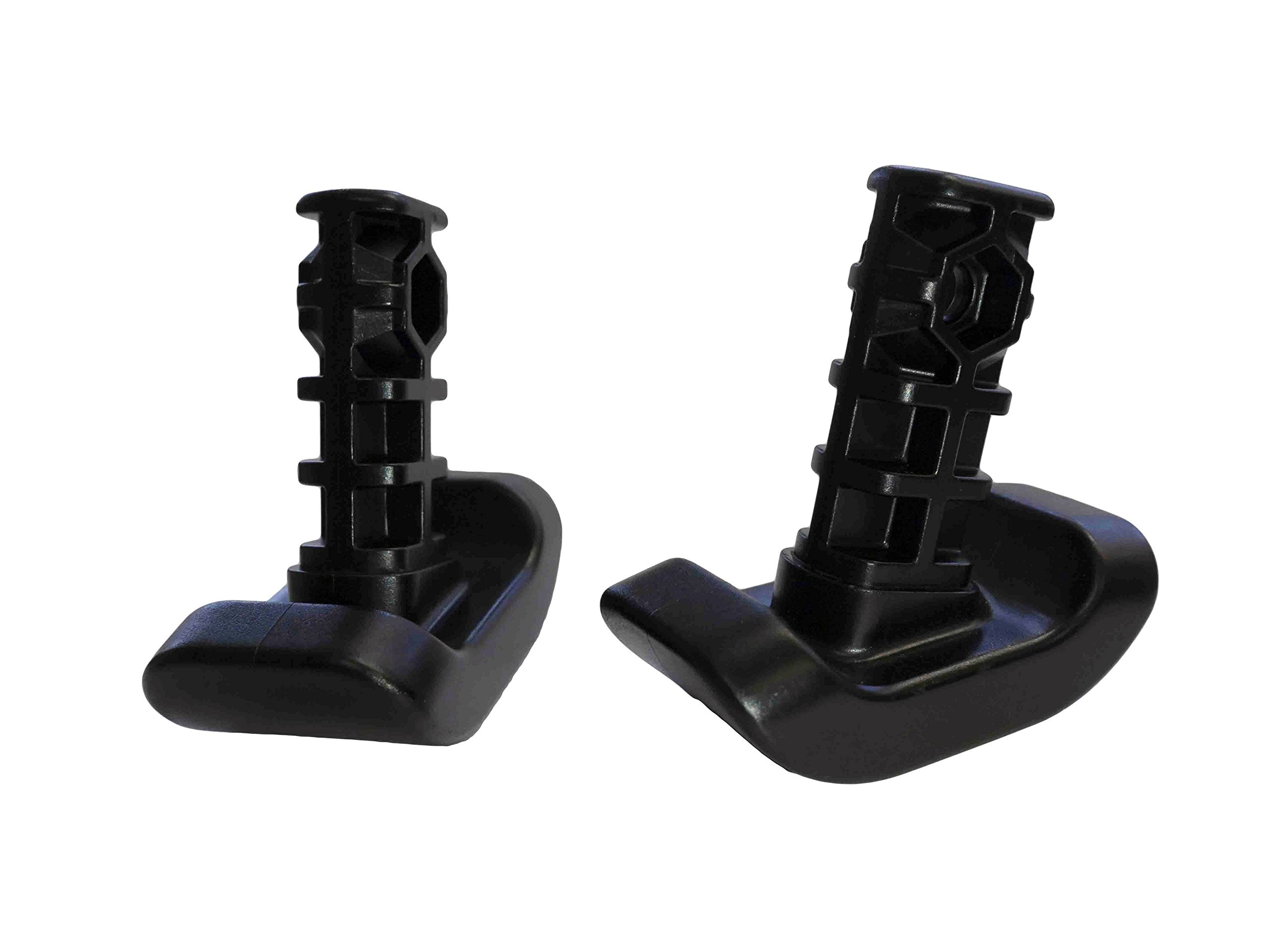 Stander Replacement Ski Glides - For the EZ Fold N' Go Walker and Able Life Space Saver Walker, Durable Plastic - 2 count, Black