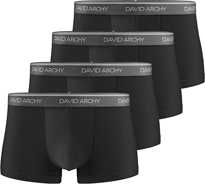 DAVID ARCHY - Calzoncillos tipo bóxer para hombre, con bolsa ...