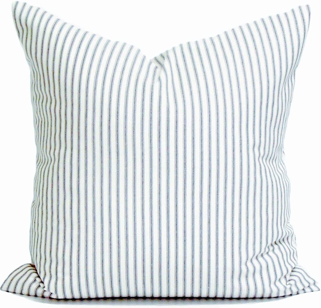 CHICCAT Ticking Stripe Pillow Cover French Ticking Pillow