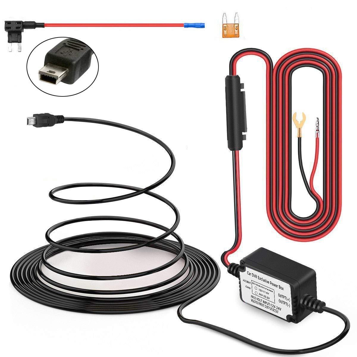Inrigorous Auto-Kamera Hard Wire Kit mit Micro USB Direct Hardwire Kfz-Ladeger/ät Kabel Kit f/ür HD Pro und alle Micro-USB-Dashboard Kamera Netzteil KFZ-Ladeger/ät GPS Auto-DVR Power Box