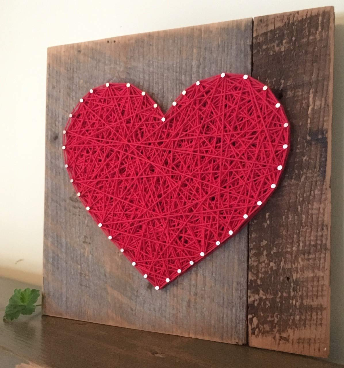 Large Red string art wooden heart gift, sign and plaque. Unique gifts for Weddings, Anniversaries,Birthdays, Valentine s Day, new babies, housewarming and just because gifts.