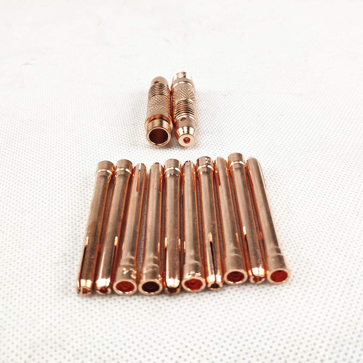 Lot de 12 lames de soudage en argon TIG pour électrode de de tungstène 1,0 mm, 1,6 mm, 2,0 mm, 2,4 mm, 3,0 mm, 3,2 mm