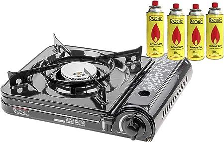 Hornillo de gas portátil para camping Slim Edition, hornillo ...