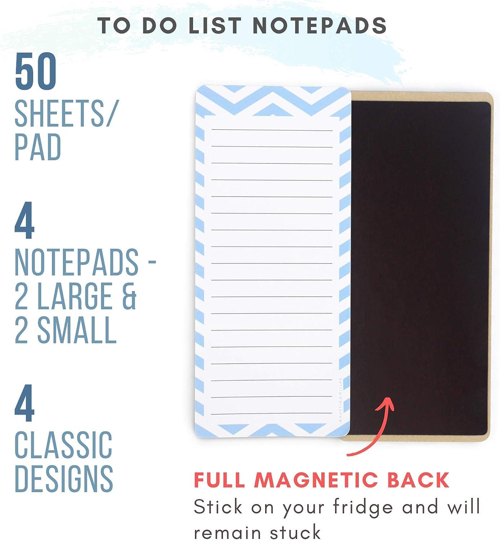 dise/ño de papeler/ía compras de alimentos o organizador de notas ideal como lista de tareas Bloc de notas magn/ético para nevera color Mi Jard/ín