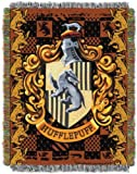 """Harry Potter, Hufflepuff's Crest Woven Tapestry Throw, 48"""" x 60"""""""