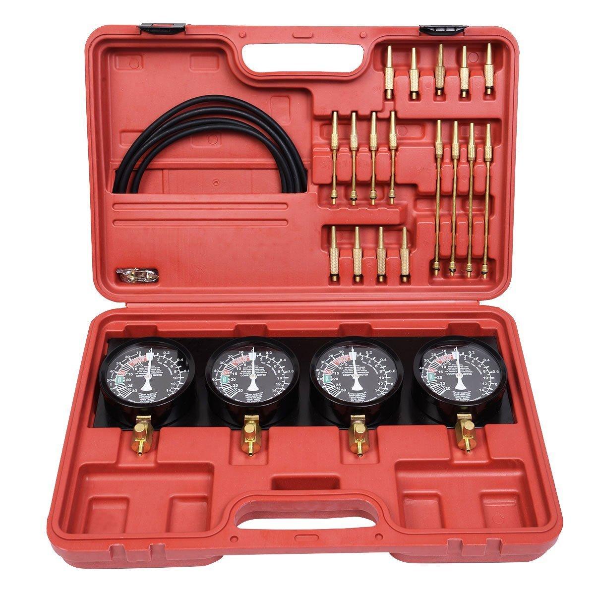 LARS360 synchrone Testeur carburateur pour carburateur 4 Montres Voiture synchrone Montres synchrone Testeur de