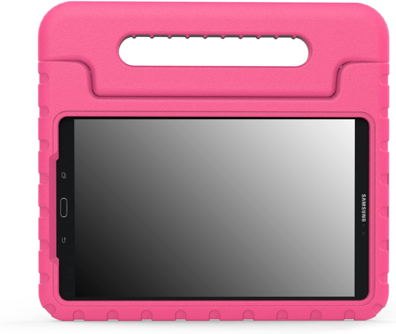 """MoKo Case Fit Galaxy Tab A 10.1 2016, Kids Shock Proof Convertible Handle Lightweight Super Protective Stand Cover for Samsung Galaxy Tab A 10.1"""" 2016 Tablet(SM-T580/SM-T585, No Pen Version), Magenta"""