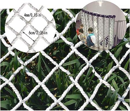 NET - Protector de barandilla para balcón y Escalera, Color Blanco, 2x9m: Amazon.es: Hogar