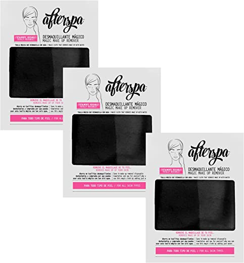AfterSpa Beauty - Magic Make Up Remover - Take Home Your Spa Experience - Black - Pack of 3