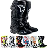 Alpinestars Tech 10 Men's Dirt Bike Motorcycle Boots - Black/Green / Size 7