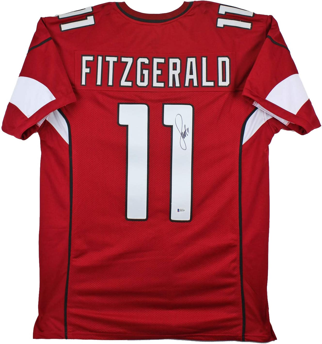 Amazon.com: Larry Fitzgerald Authentic Signed Red Pro Style Jersey ...