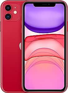 Apple iPhone 11 with FaceTime - 256GB, 4GB RAM, 4G LTE, Red, Single SIM & E-SIM