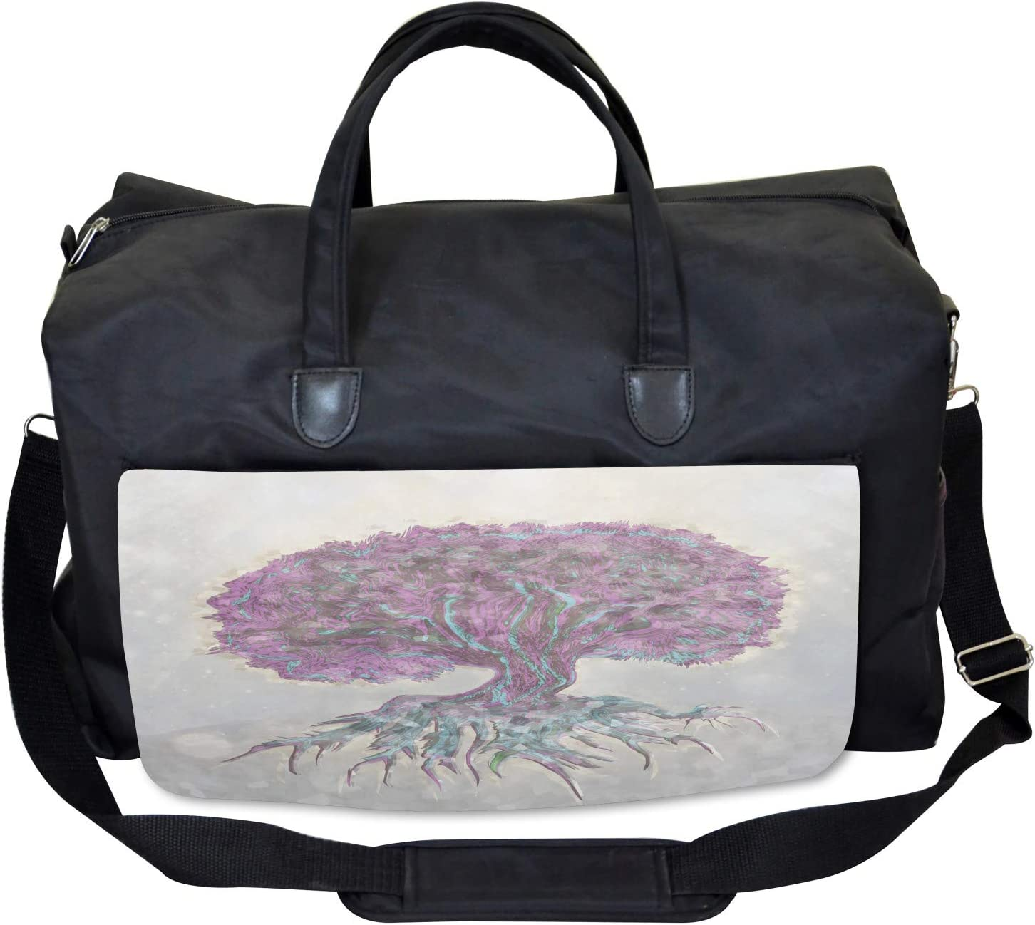 Ambesonne Tree Gym Bag Watercolor Bohemian Large Weekender Carry-on