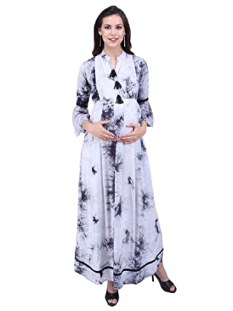 8774025280a4 MomToBe Women s Rayon Maternity Dress  Amazon.in  Clothing   Accessories