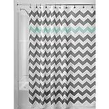InterDesign Chevron Fabric Stall-Sized Shower